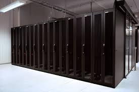 racks in a data center
