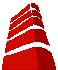 visualisation of an office building for the logo of Datacenter Vlaanderen