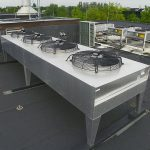 cooling system on the rooftop of a data center