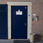 security door in the Antwerp data center