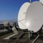 Satellite Dishes on the data center rooftop