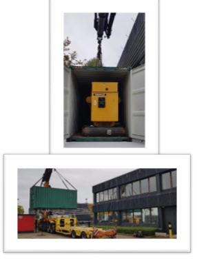 the installation of a new generator at Brussels data center